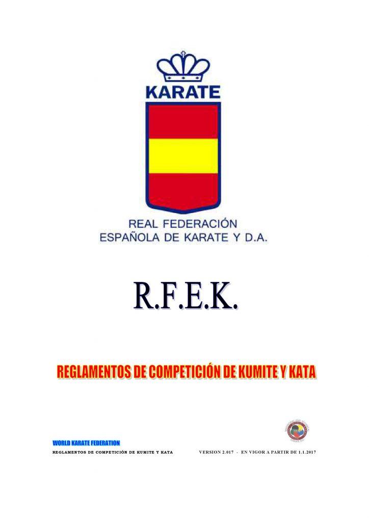 Actualizacion Reglamento Oficial Kumite y Katas FEK 2018