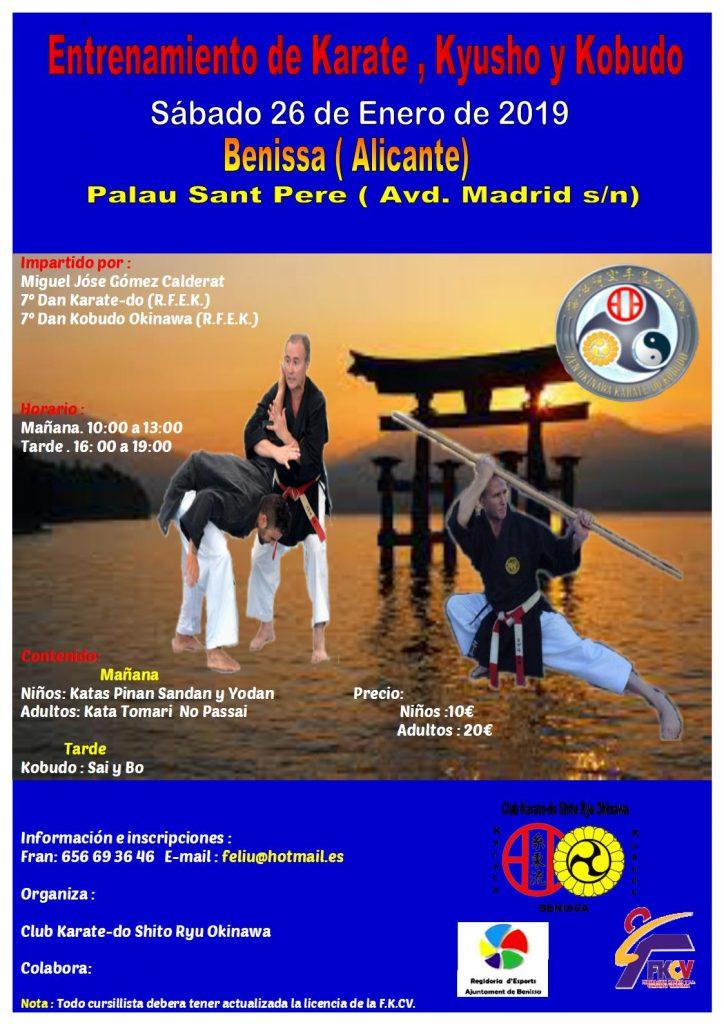 Entrenamiento de karate, kyusho y kobudo