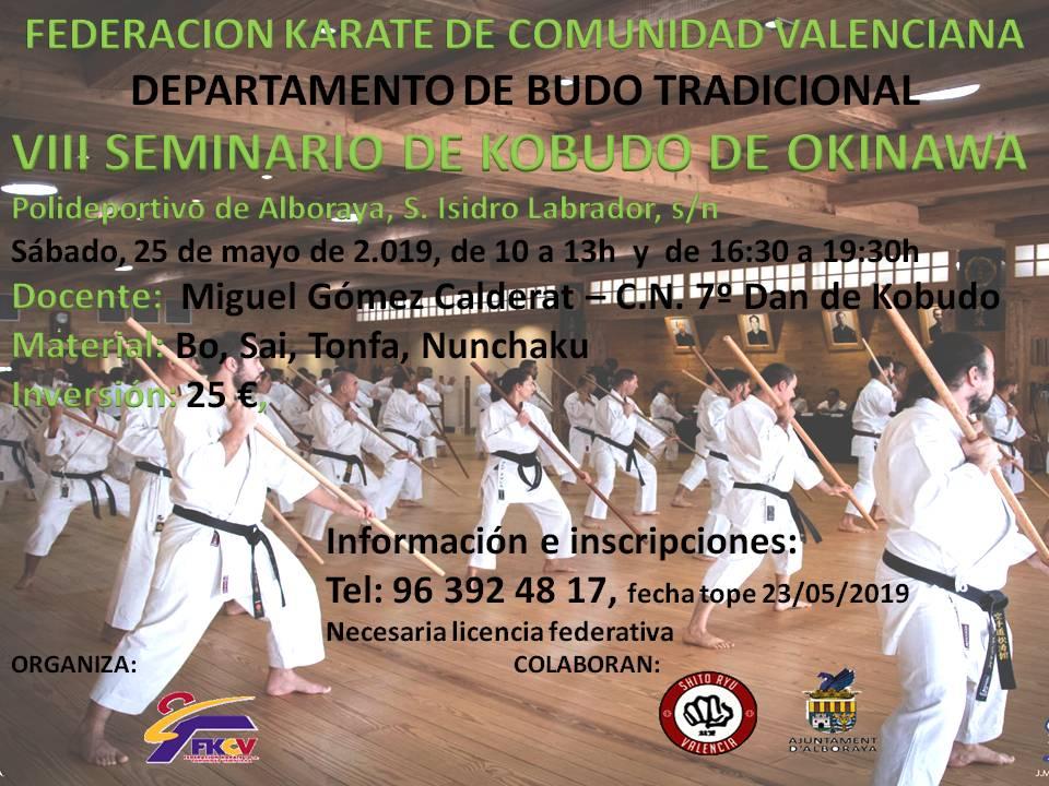 VIII Seminario de Kobudo de Okinawa