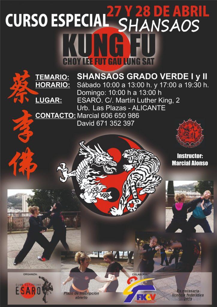 Curso de Kung Fu Shansaos