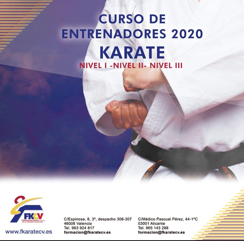 Cursos de Entrenadores/as de Karate 2020