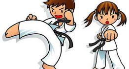 La competición de karate en adolescentes