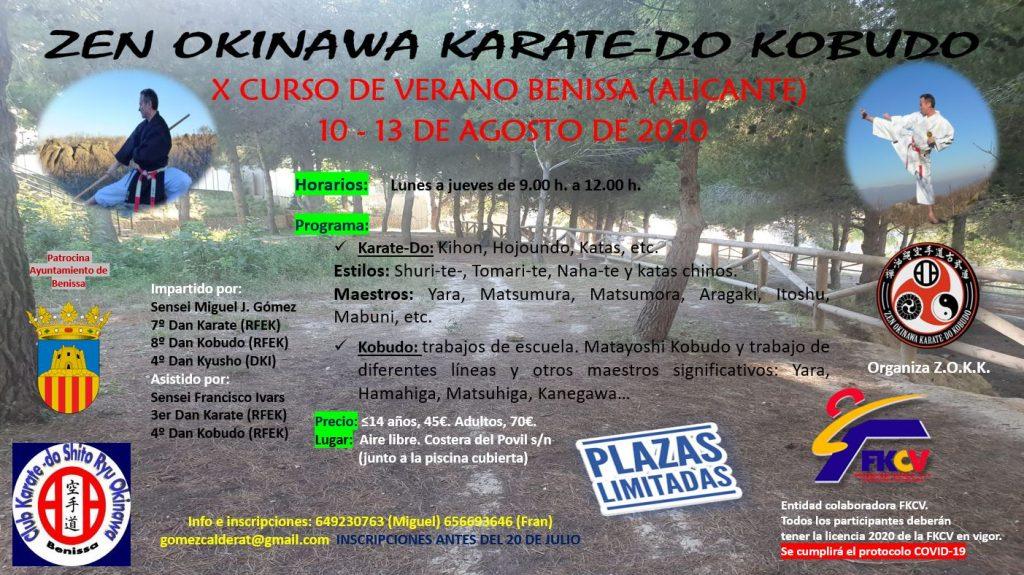 X Curs d'estiu karate-do i kobudo, Benissa