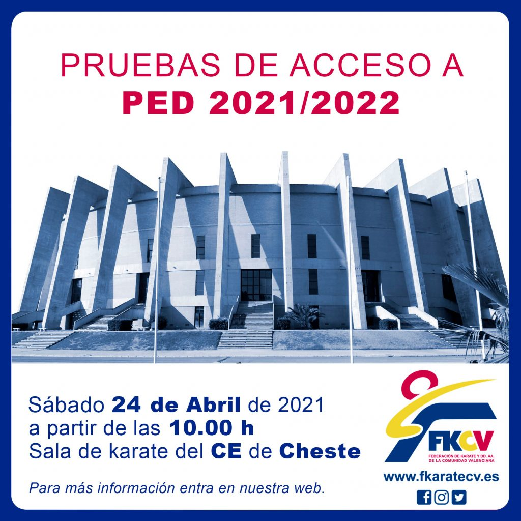 CONVOCATORIA PED DE CHESTE 2021/2022